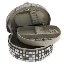 Obrázek č. 1 k produktu: Šperkovnice JKBox Cube Grey SP292-A3 - II.jakost