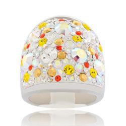 Prsten s krystaly Swarovski Sun Cosmos Exkluzive