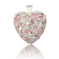 St��brn� p��v�sek s krystaly Swarovski Sweet Heart