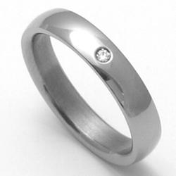 D�msk� titanov� snubn� prsten TTN0103