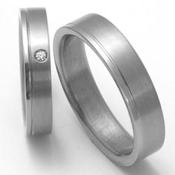 Obrázek č. 1 k produktu: Dámský titanový snubní prsten TTN0302