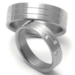 Obrázek č. 1 k produktu: Dámský titanový snubní prsten TTN0502