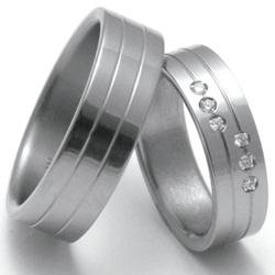 Obrázek č. 2 k produktu: Dámský titanový snubní prsten TTN0502