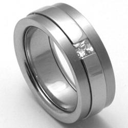 D�msk� titanov� snubn� prsten TTN2202