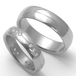 Obrázek č. 1 k produktu: Dámský titanový snubní prsten TTN2602