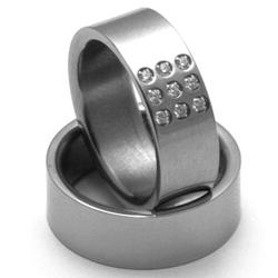 Obrázek č. 1 k produktu: Dámský titanový snubní prsten TTN2702