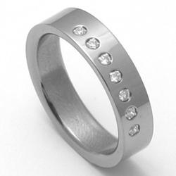 Dámský titanový snubní prsten TTN3002