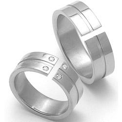 Obrázek č. 1 k produktu: Dámský titanový snubní prsten TTN3502