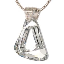 Støíbrný pøívìsek s krystaly Swarovski Cosmic Crystal Large