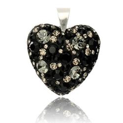 Stříbrný přívěsek s krystaly Swarovski Twilight Night Heart SPP93