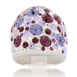 Prsten s krystaly Swarovski Violet Cosmos Exkluzive