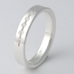 Stříbrný Prsten W4025white Zero Collection