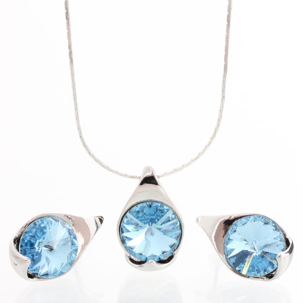 Stříbrný set s krystaly Swarovski 11000785AQ