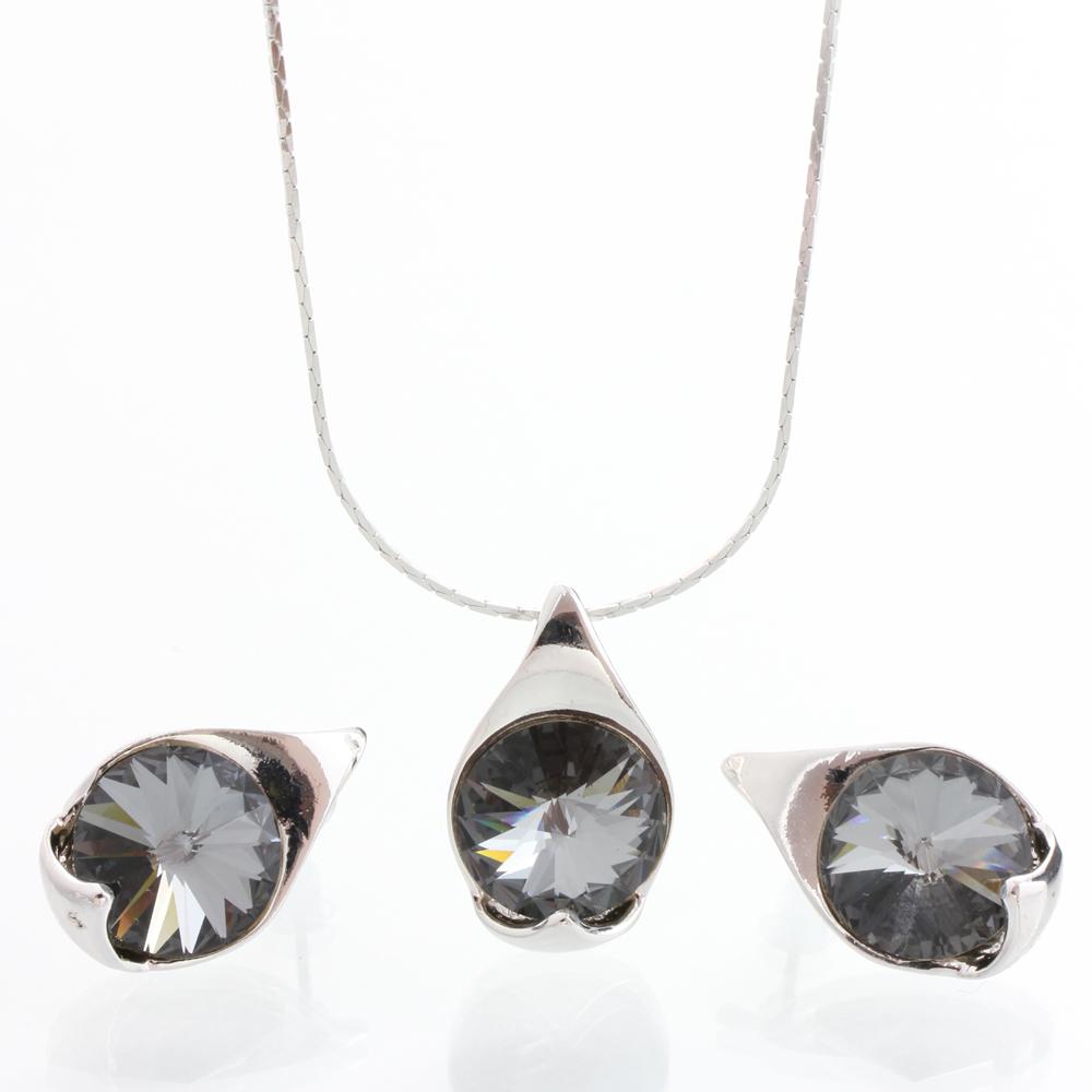 Stříbrný set s krystaly Swarovski 11000785BD