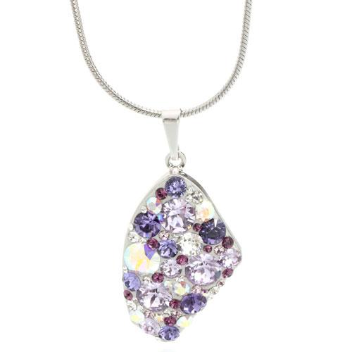Náhrdelník s krystaly Swarovski Galactic Violet