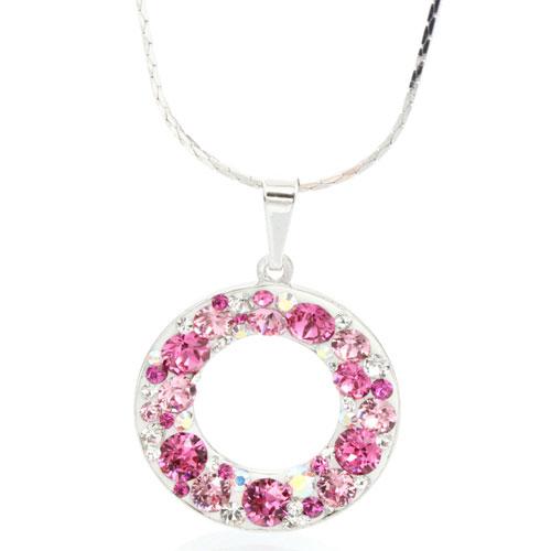 Náhrdelník s krystaly Swarovski Circle Rose