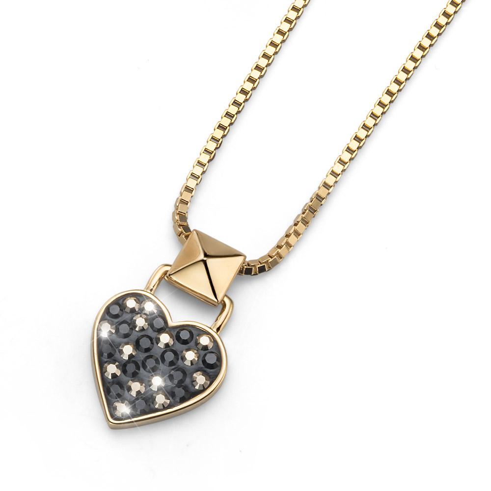 Přívěsek s krystaly Swarovski Oliver Weber Lucky Heart Gold