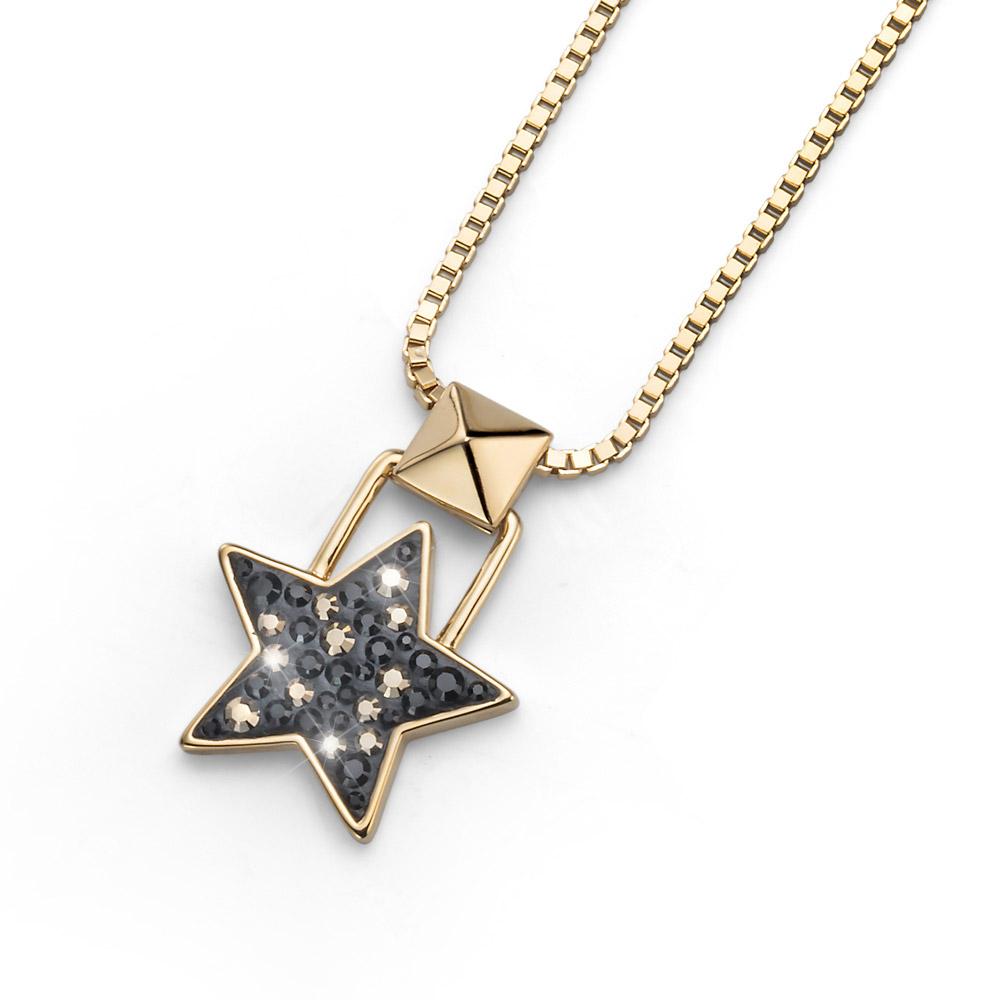 Přívěsek s krystaly Swarovski Oliver Weber Lucky Star Gold