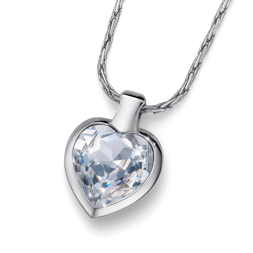 Přívěsek s krystaly Swarovski Oliver Weber Heart Crystal