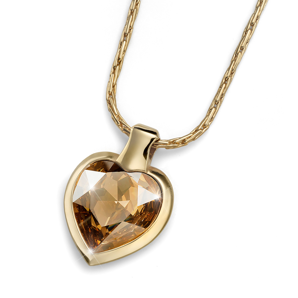 Přívěsek s krystaly Swarovski Oliver Weber Heart