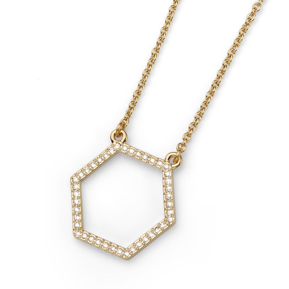 Přívěsek s krystaly Swarovski Oliver Weber Hexagon Gold