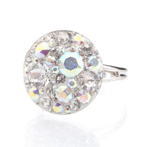 Prsten s krystaly Swarovski Rivoli Rainbow