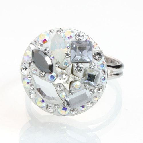 Prsten s krystaly Swarovski Rivoli Tvar