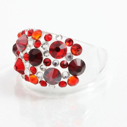 Prsten s krystaly Swarovski Plastic Siam