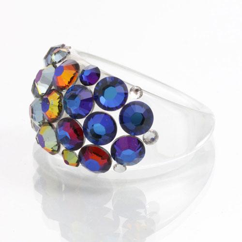 Prsten s krystaly Swarovski Plastic Volcano