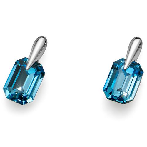 Náušnice s krystaly Swarovski Oliver Weber Club Aqua