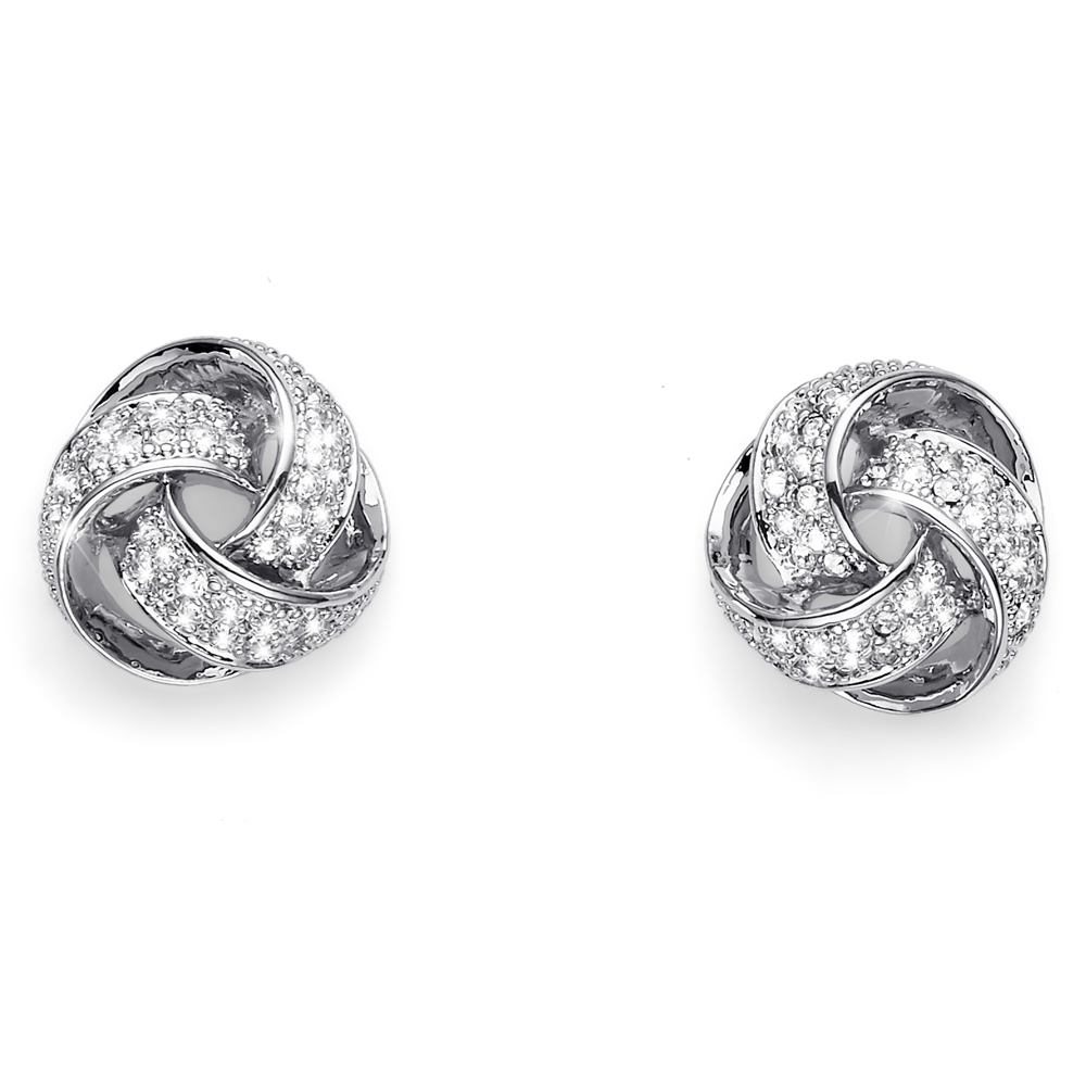Náušnice s krystaly Swarovski Oliver Weber Knot