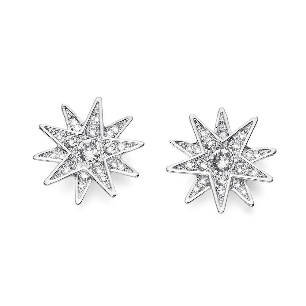 Naušnice s krystaly Swarovski Oliver Weber Sissi Silver Crystal