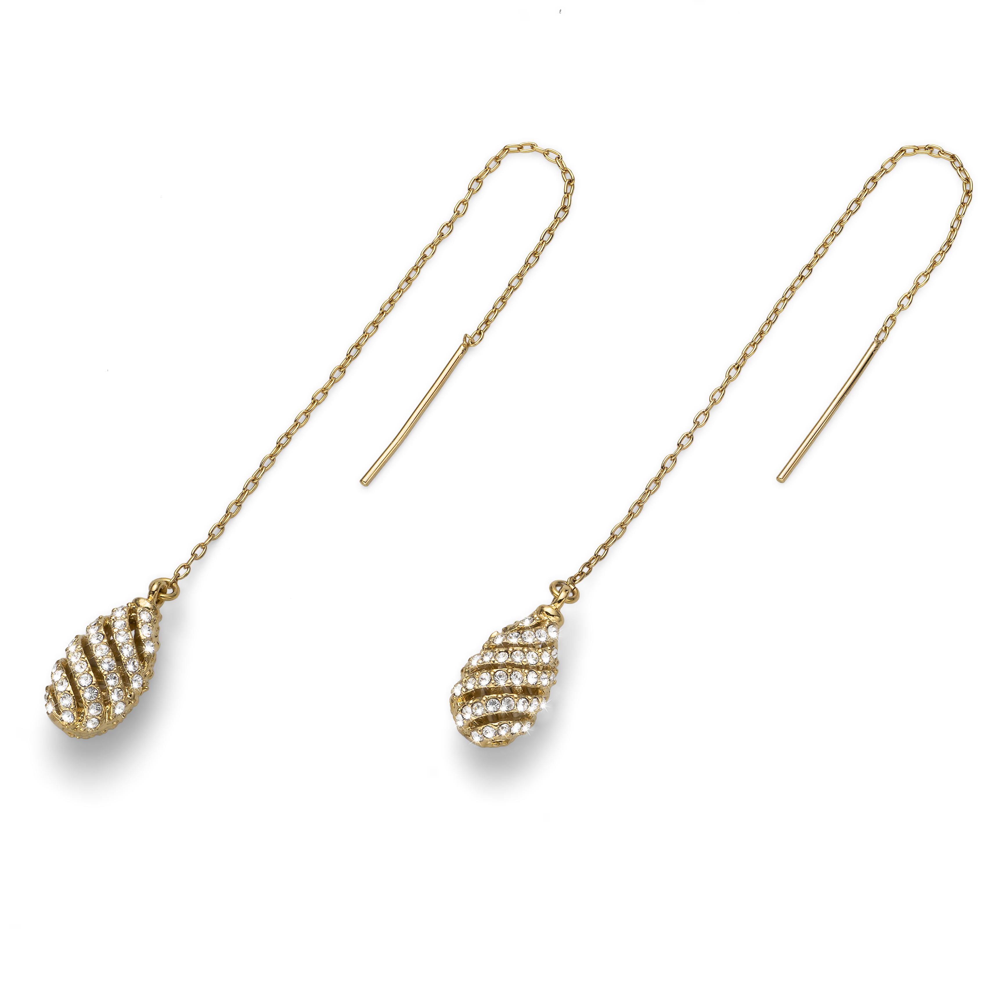 Naušnice s krystaly Swarovski Oliver Weber Comfy Gold