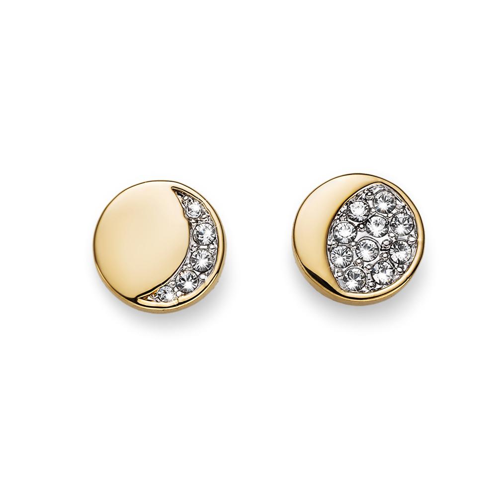 Naušnice s krystaly Swarovski Oliver Weber Sky Gold