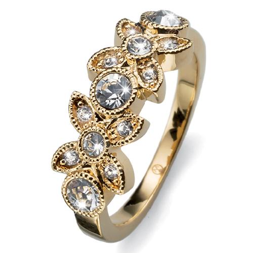 Prsten s krystaly Swarovski Oliver Weber Fleur 2474G
