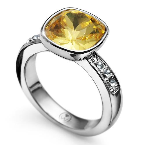 Prsten s krystaly Swarovski Oliver Weber Enjoy Sunflower
