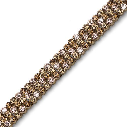 Náramek s krystaly Swarovski Oliver Weber Treasure Wide Gold
