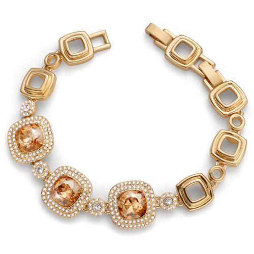 Náramek s krystaly Swarovski Oliver Weber Autentic Gold