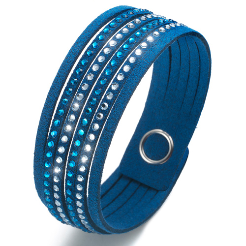 Náramek Oliver Weber s krystaly Swarovski Simple Cut Sapphire Blue