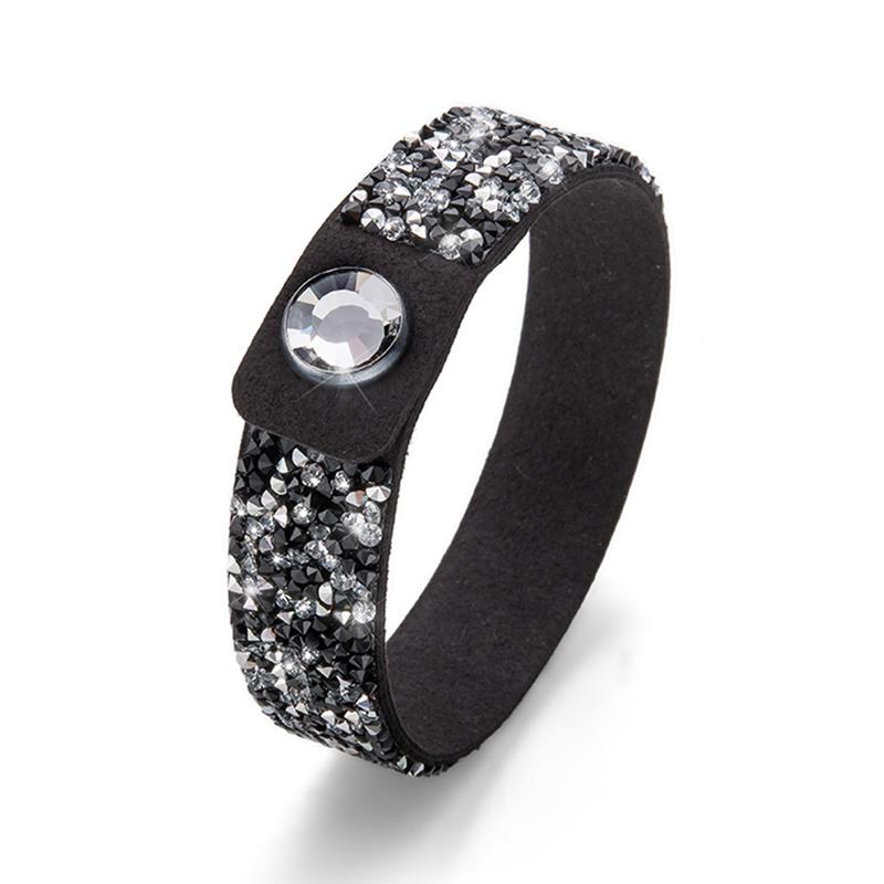 Náramek s krystaly Swarovski Oliver Weber Glitter 32191-BLA