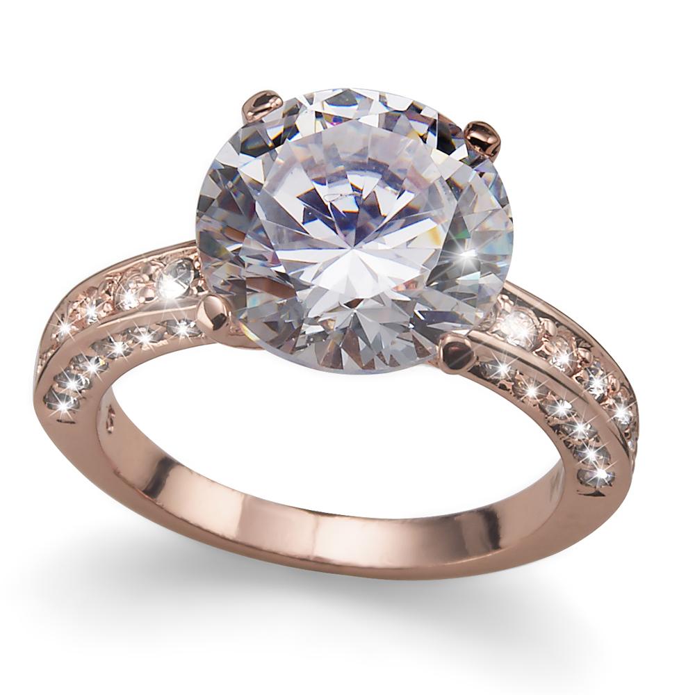 Prsten s krystaly Swarovski Oliver Weber Princess 41065RG