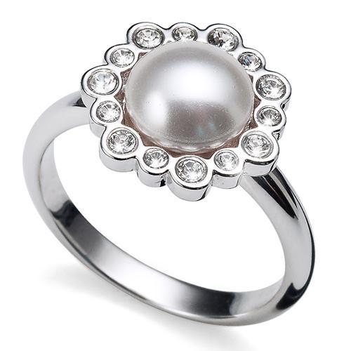 Prsten s krystaly Swarovski Oliver Weber Ease