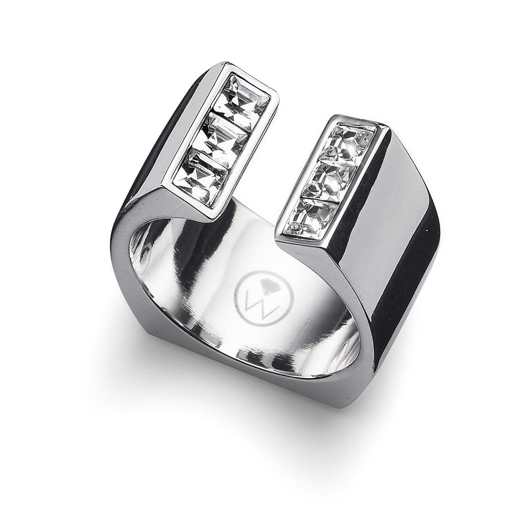 Prsten s krystaly Swarovski Oliver Weber Open