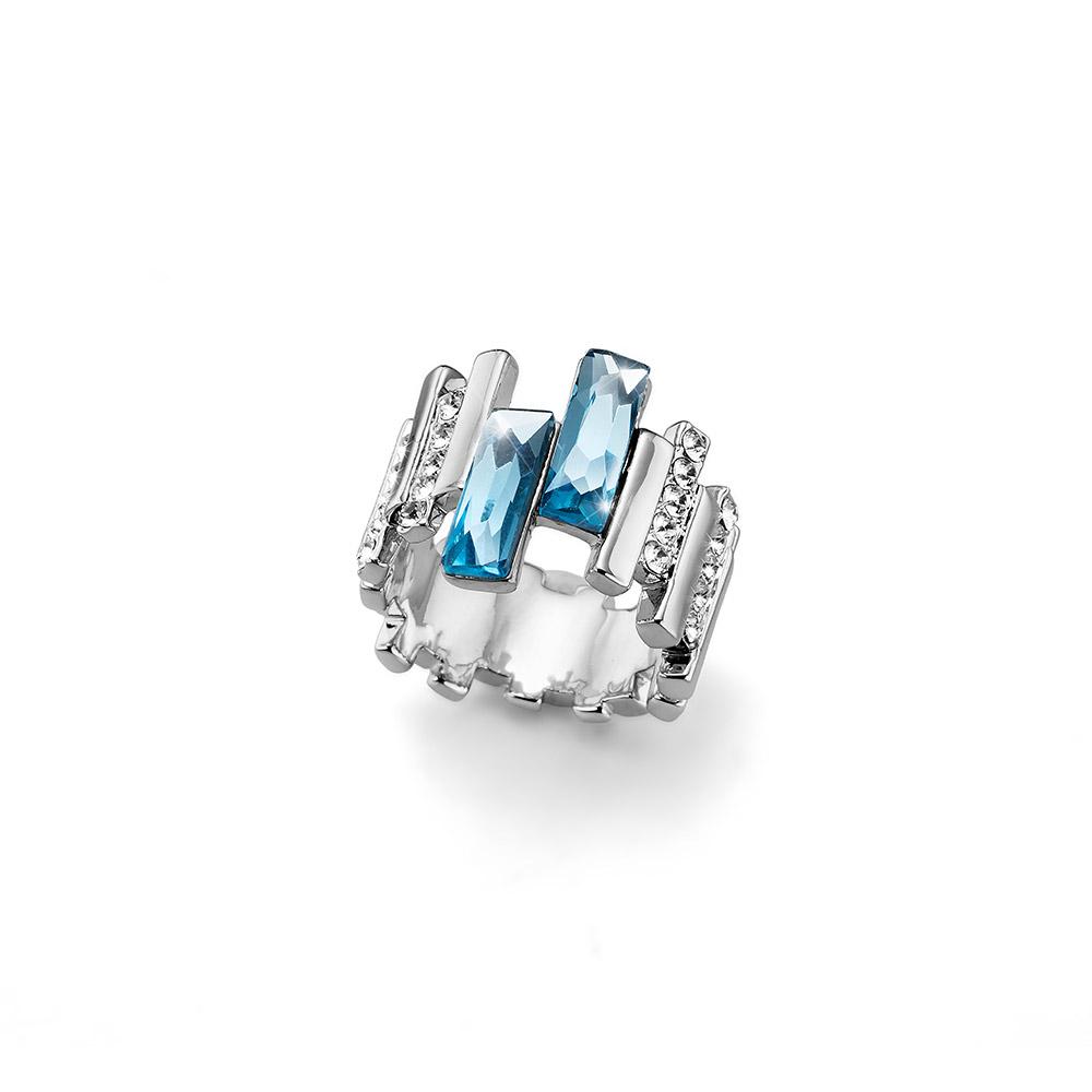 Prsten s krystaly Swarovski Oliver Weber Skyline 41136