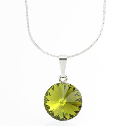 Náhrdelník s krystalem Swarovski Rivoli 12 Olivine