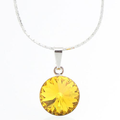 Náhrdelník s krystalem Swarovski Rivoli 12 43112212SUN