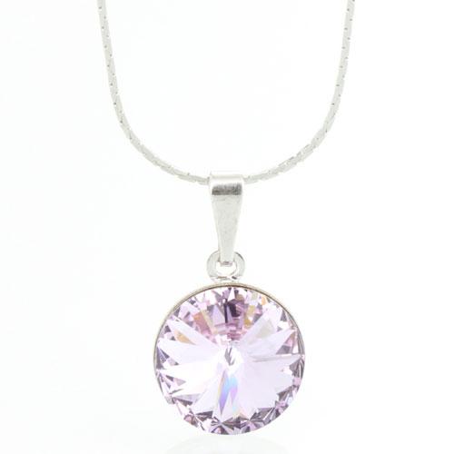Náhrdelník s krystalem Swarovski Rivoli 12 Violet