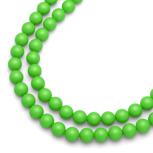 Náhrdelník Oliver Weber Perlen Combi Neon Green