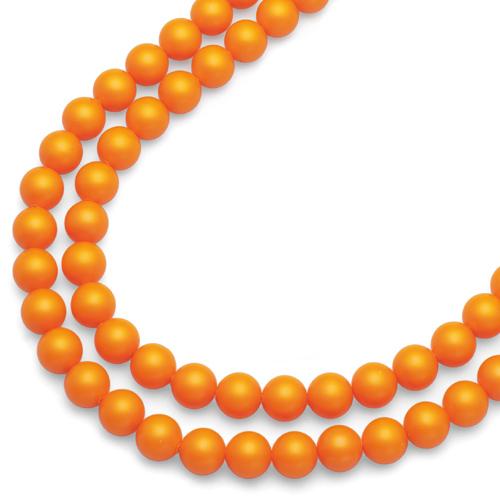 Náhrdelník Oliver Weber Perlen Combi Neon Orange