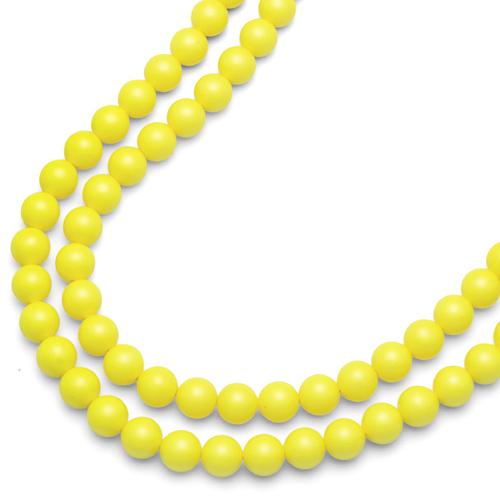Náhrdelník Oliver Weber Perlen Combi Neon Yellow